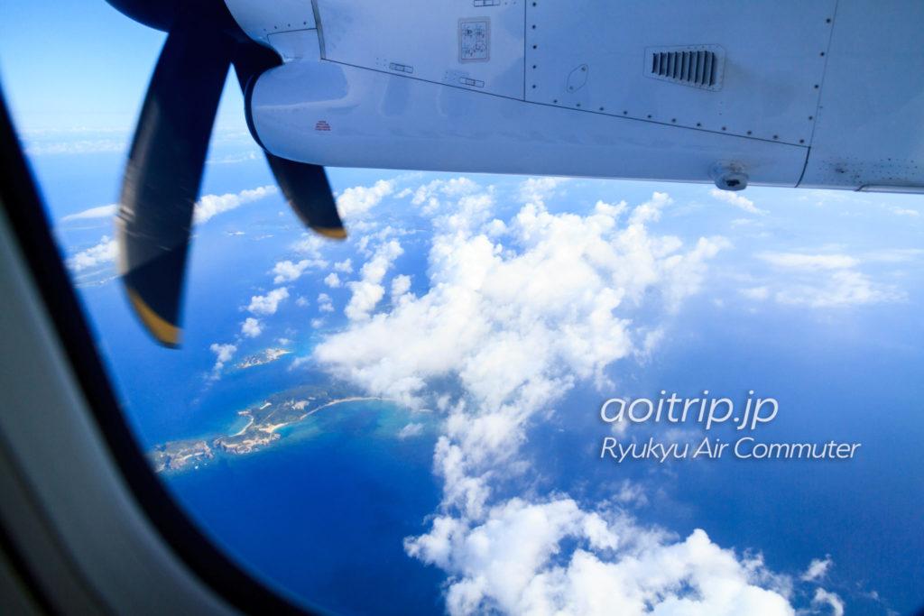 飛行機機内から見る渡嘉敷島