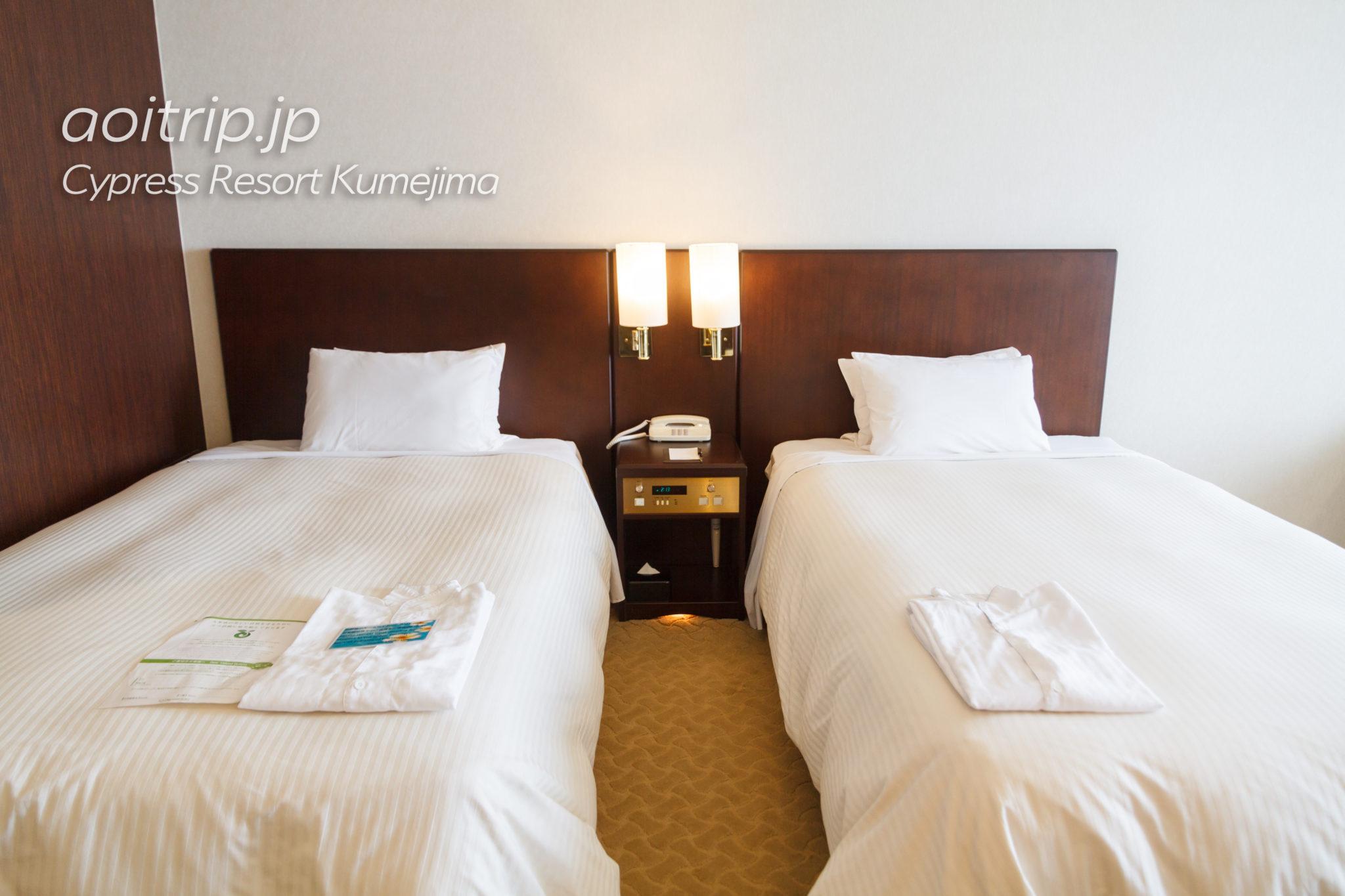 サイプレスリゾート久米島のベッド