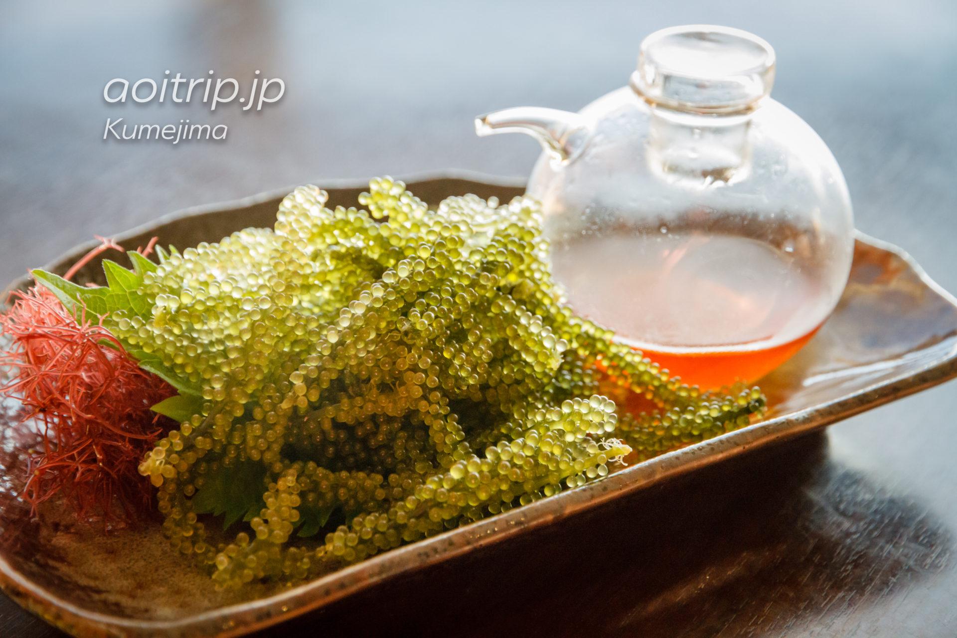 サイプレスリゾート久米島のレストラン 海ぶどう