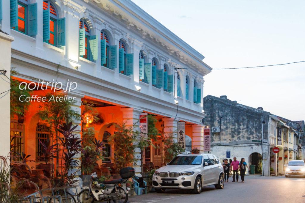 ペナン島のホテル コーヒーアトリエ