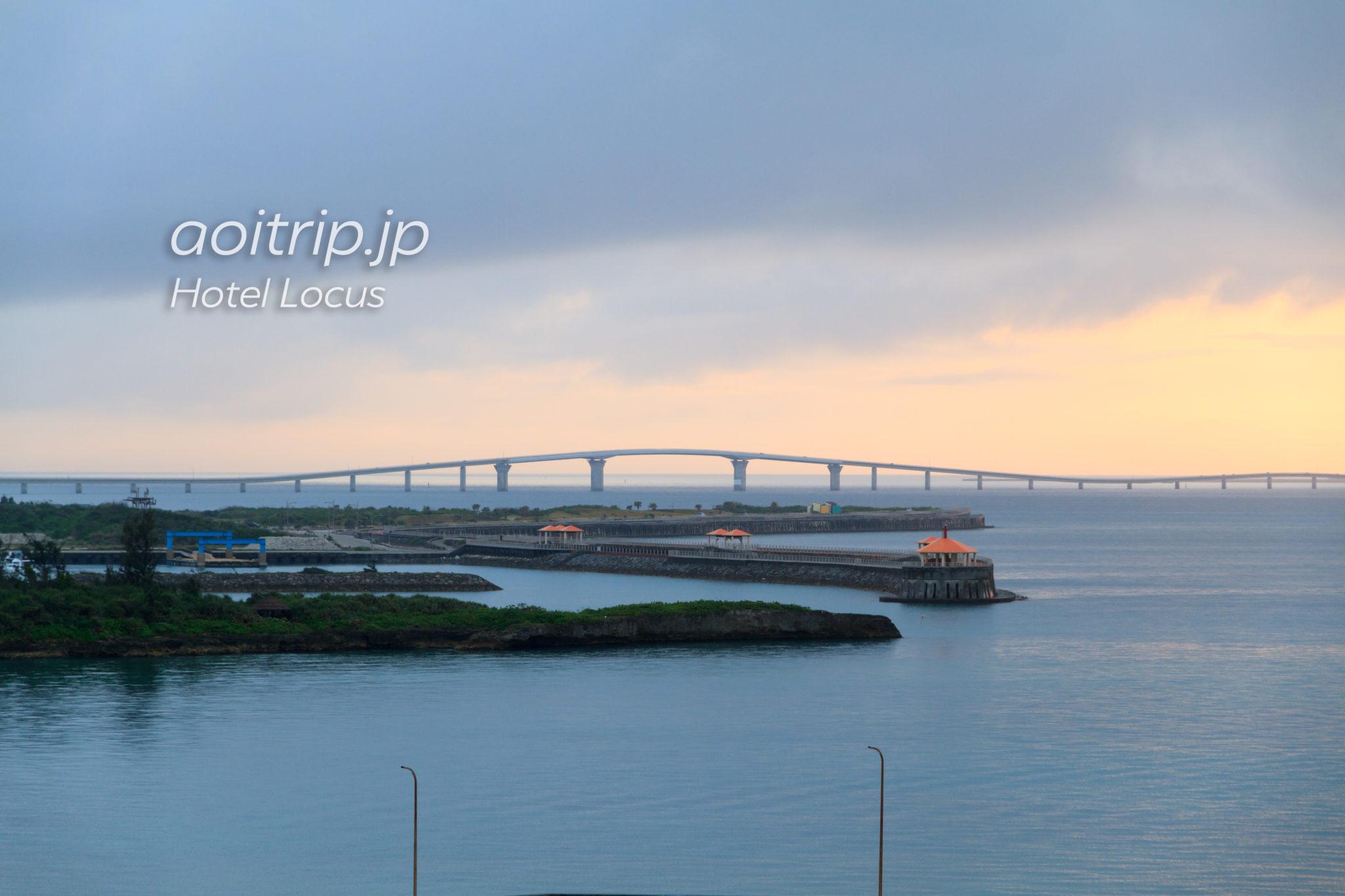 ホテルローカス宮古島のバルコニーから見る伊良部大橋
