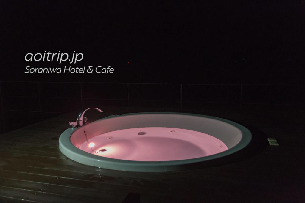 ソラニワホテルアンドカフェの屋上ジャグジー