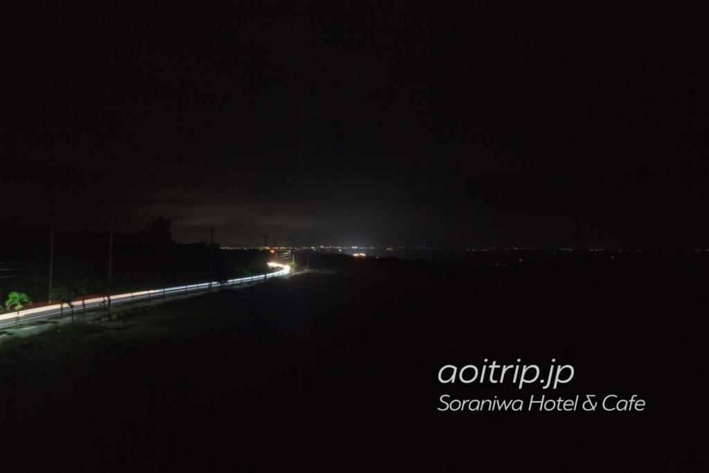 ソラニワホテルアンドカフェの屋上から望む宮古島の夜景