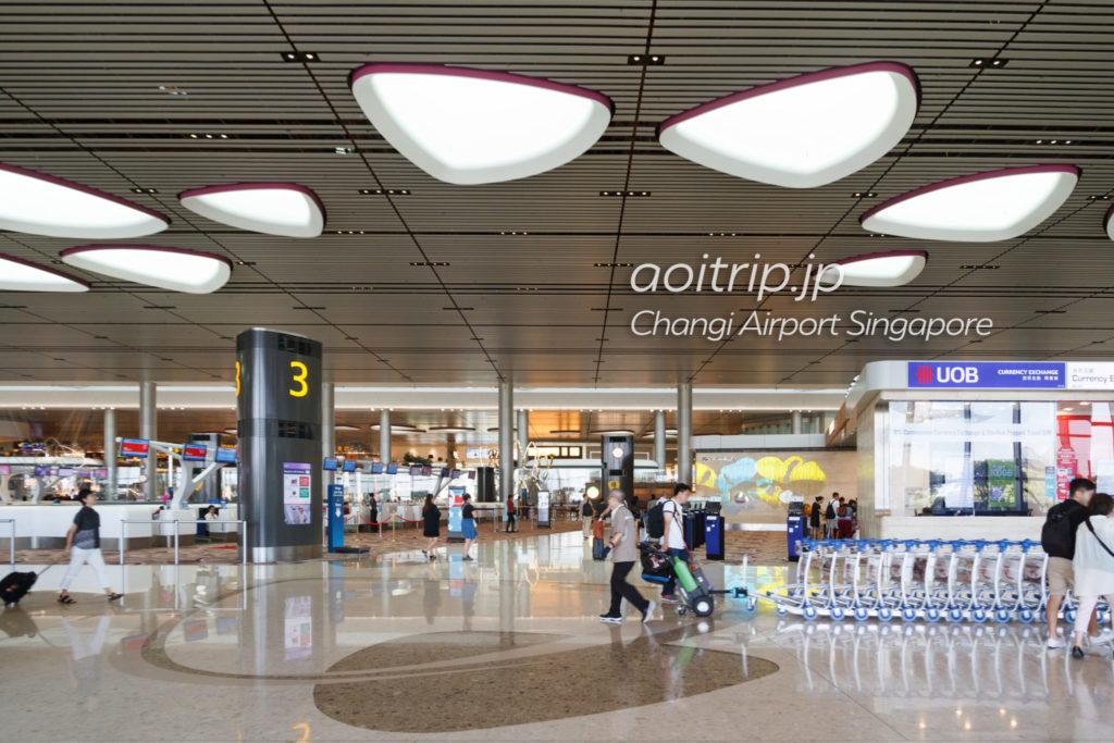 チャンギ国際空港ターミナル4の建物内部