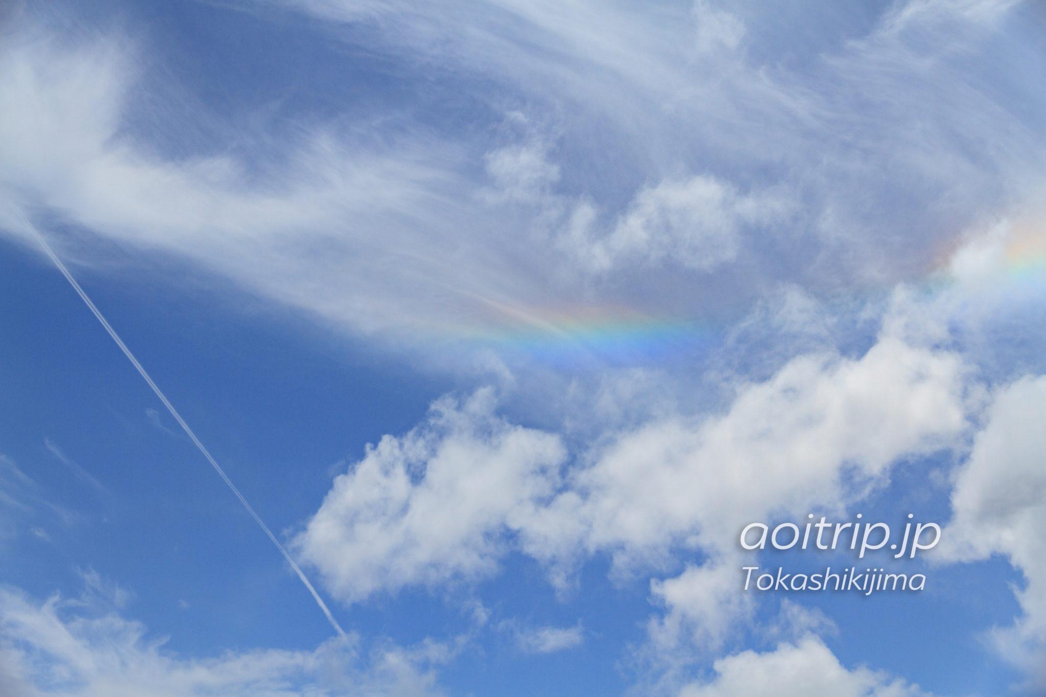 阿波連園地展望台で見た彩雲