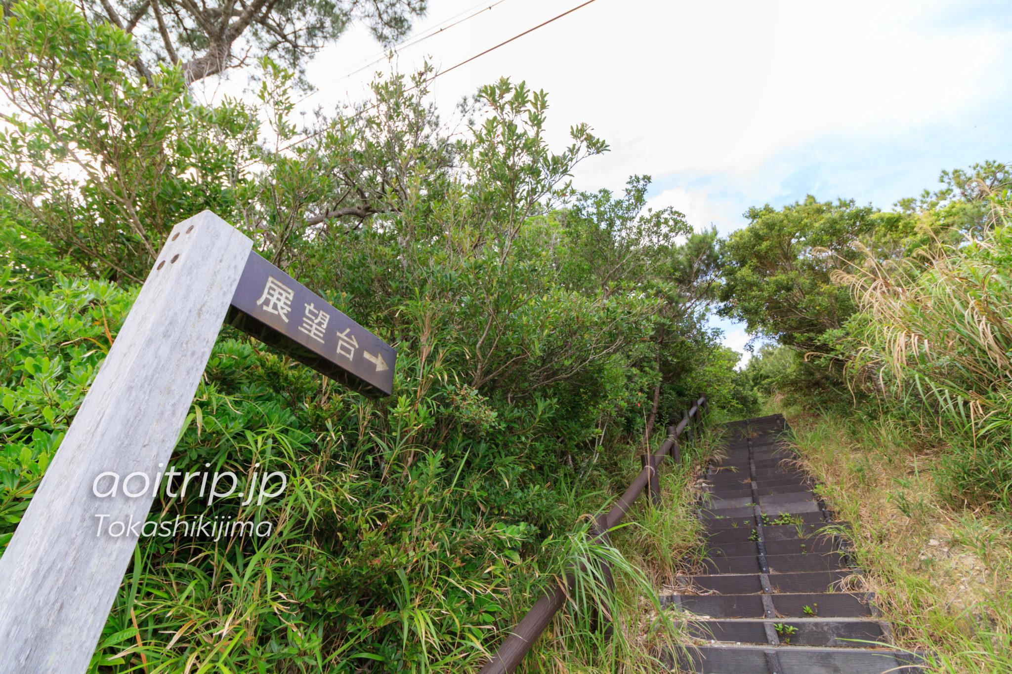 照山展望台の入り口