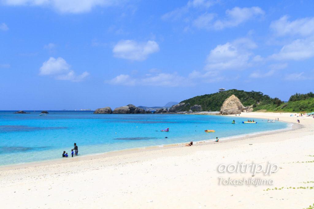 渡嘉敷島の阿波連ビーチ