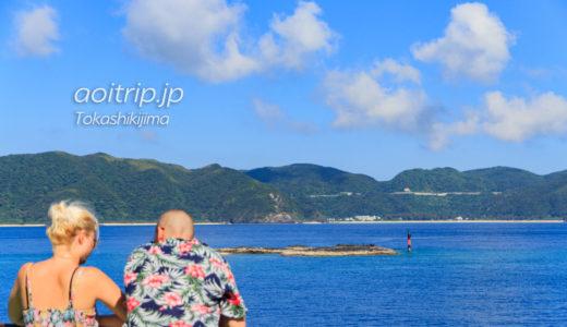 フェリーざまみ(座間味)乗船記 船内から望む慶良間の島々
