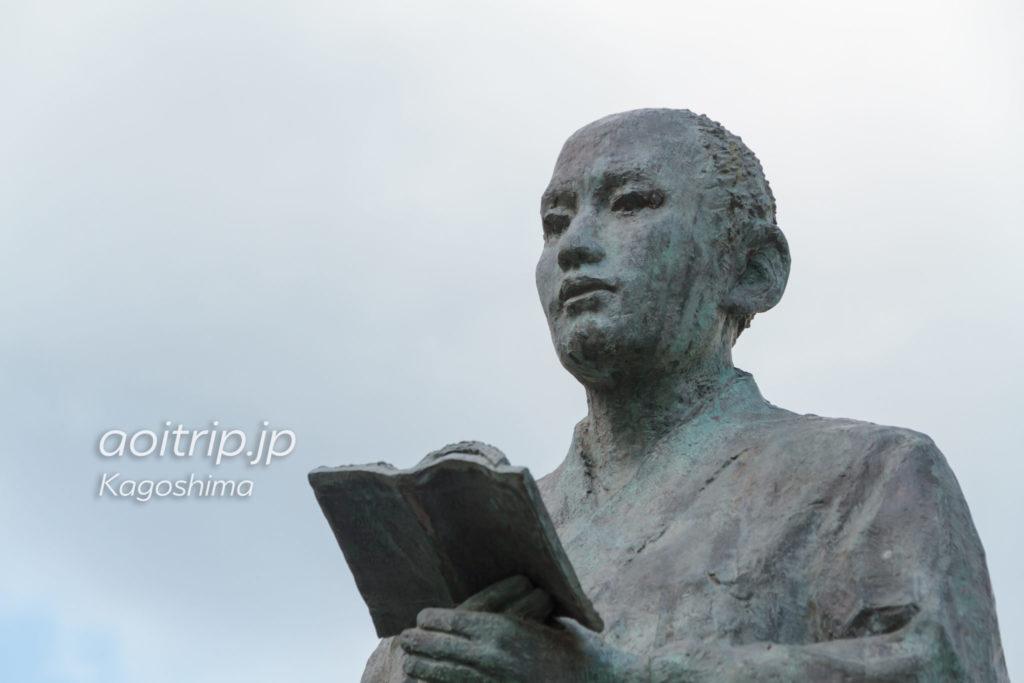 ザビエル公園にある弥次郎の像