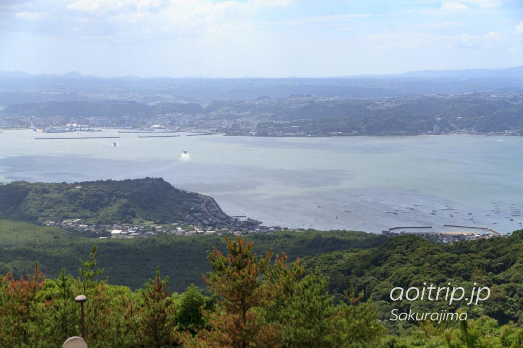 桜島の湯之平展望所の展望台