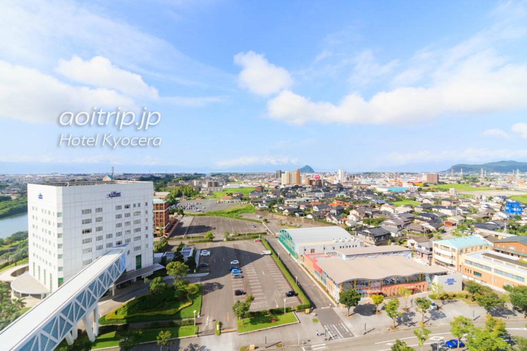 ホテル京セラ12Fエグゼクティブダブルルームからの眺望