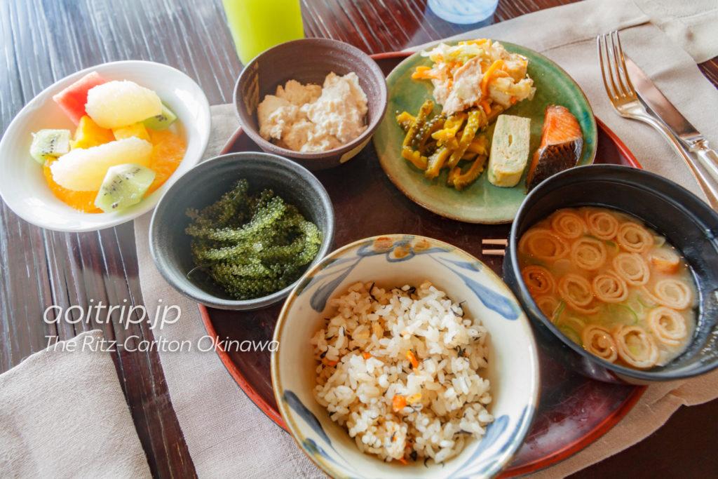 ザリッツカールトン沖縄の朝食