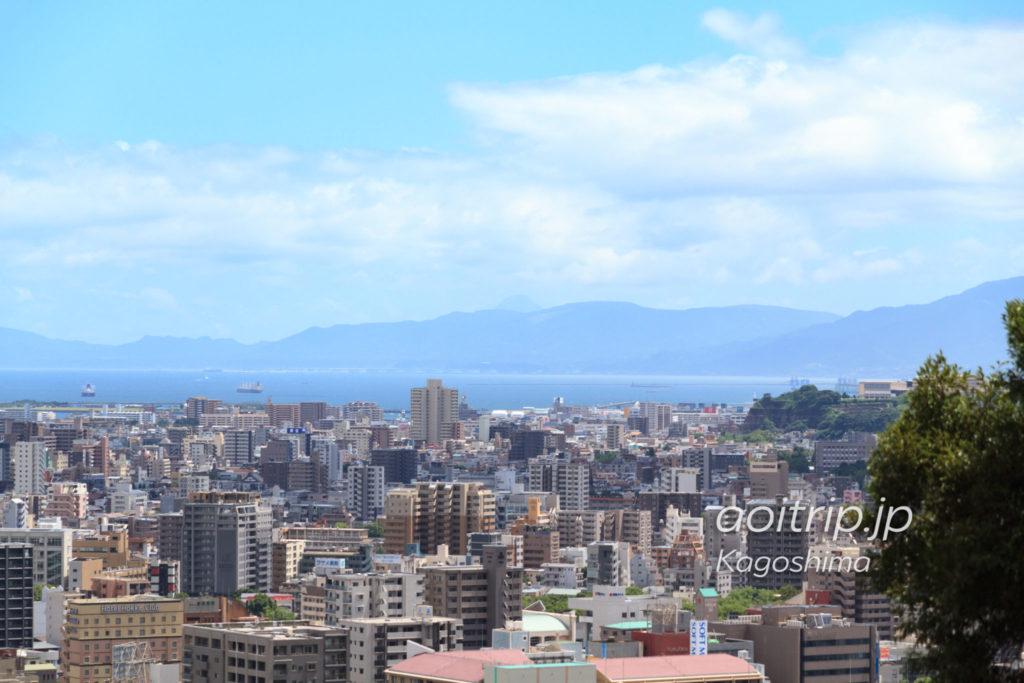 城山展望台から見る開聞岳