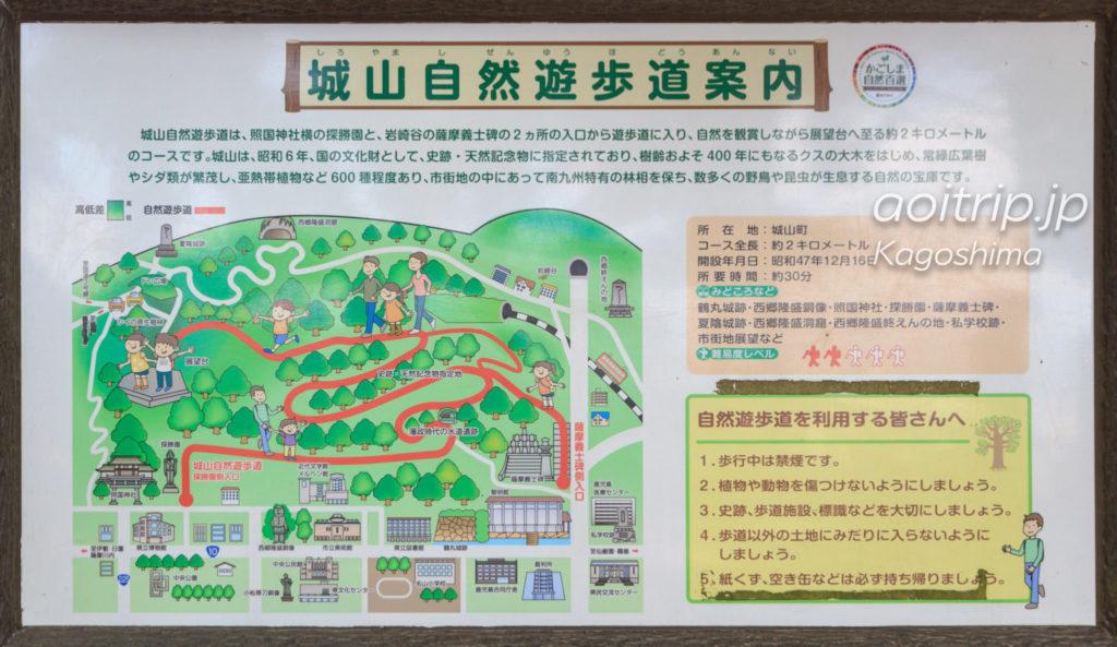 城山自然遊歩道の案内