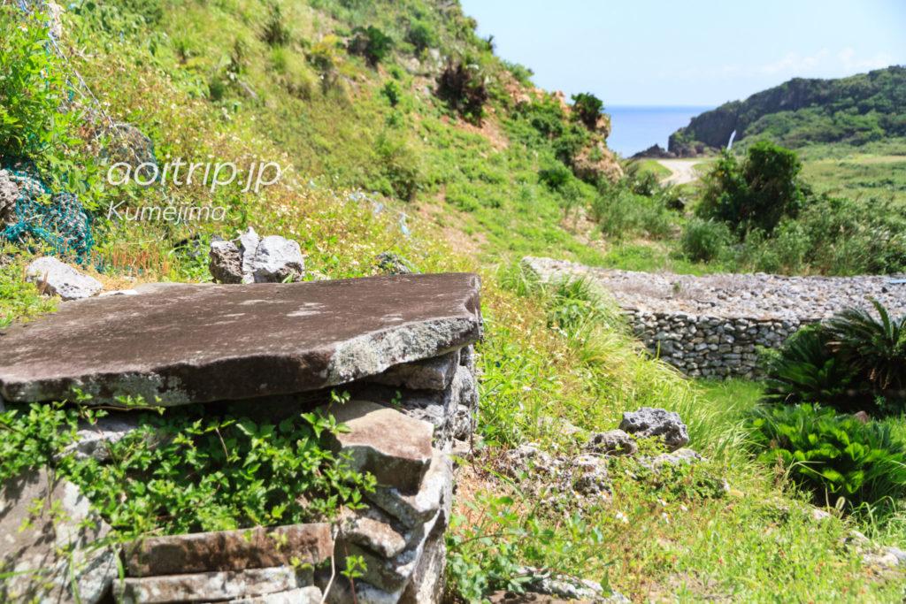 久米島の具志川城跡 トートー石