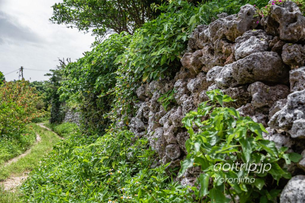 与論城跡の石垣