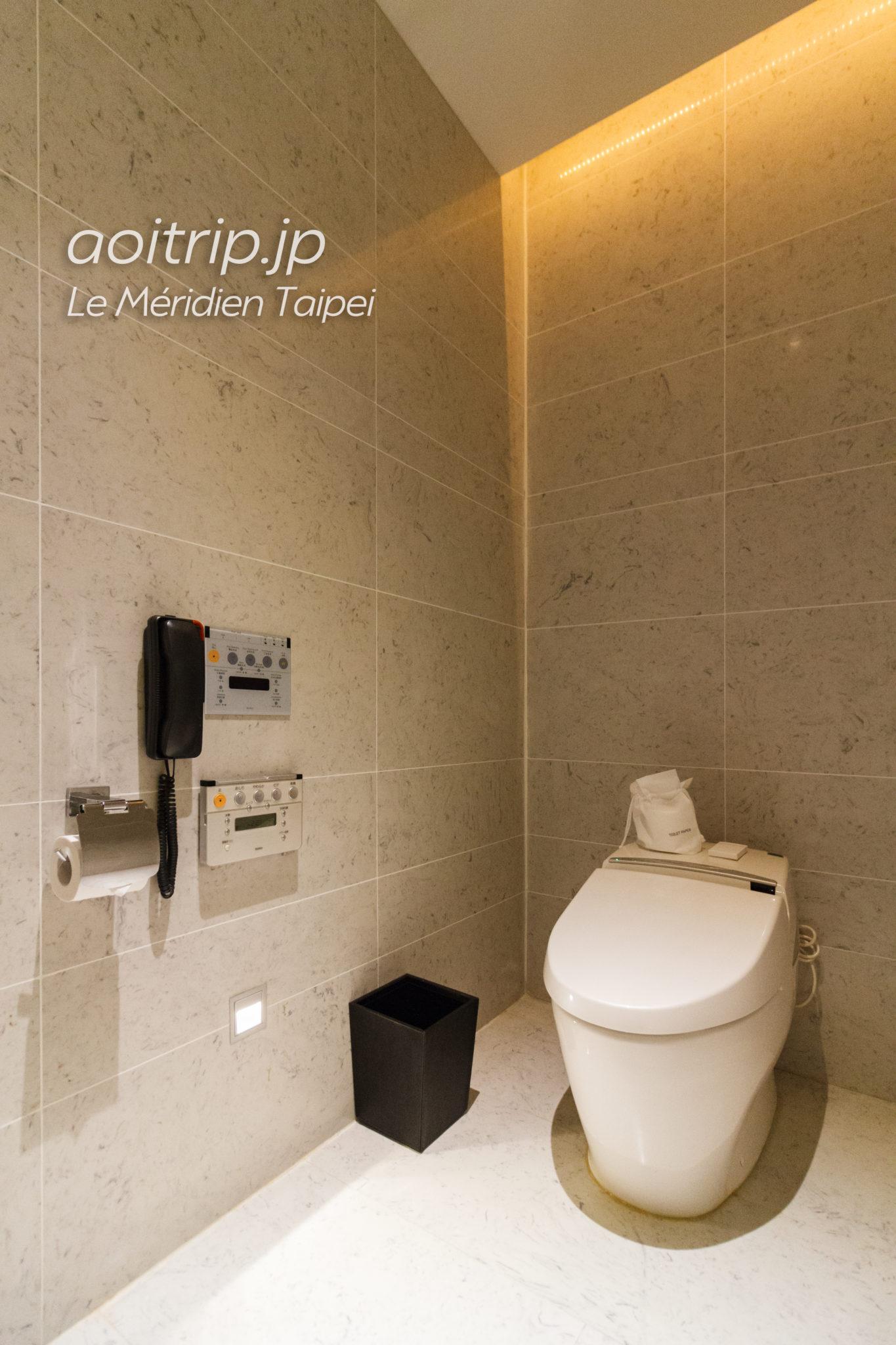 ルメリディアン台北のジュニアスイート トイレ
