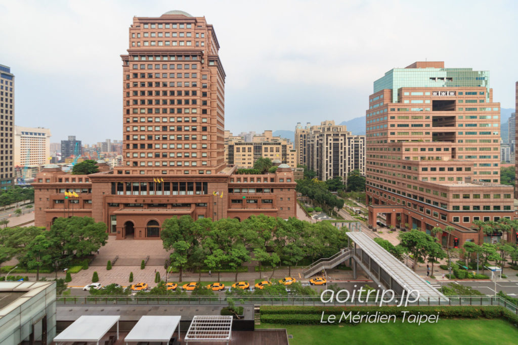 ルメリディアン台北の東側の眺望