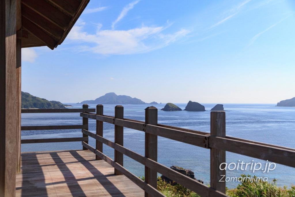 座間味島の神の浜展望台
