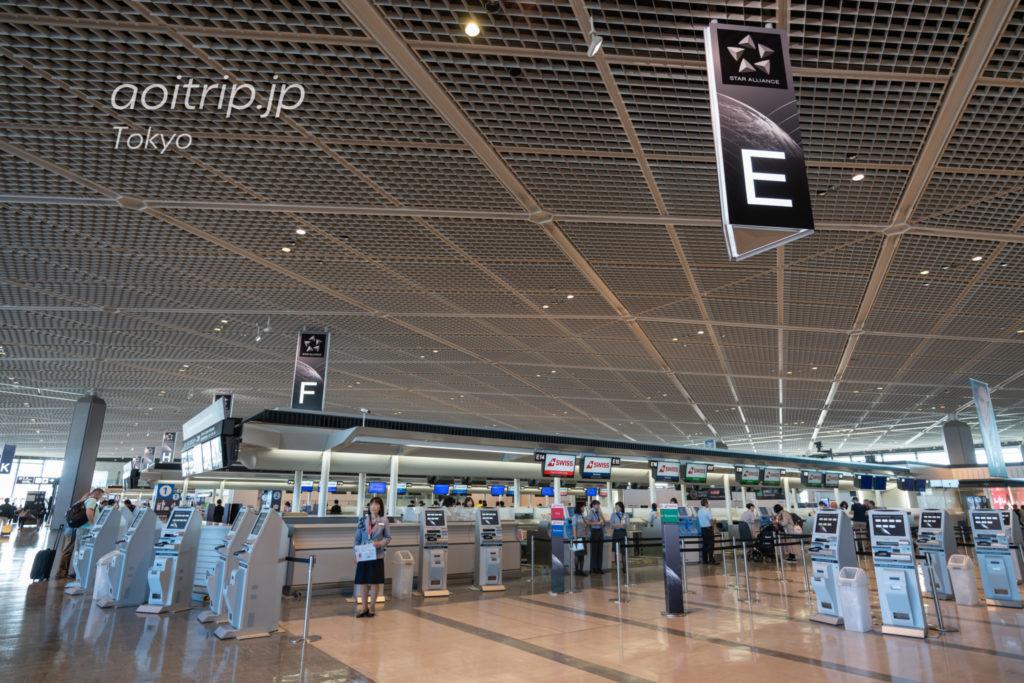 成田空港第1ターミナル スイス航空チェックインカウンター