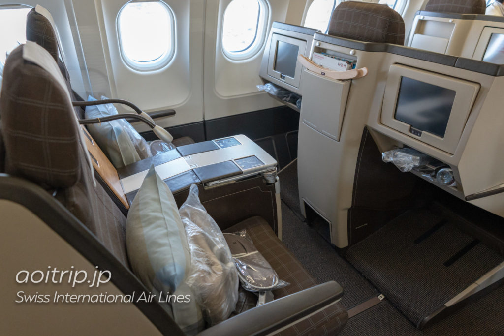 スイス航空LX161便ビジネスクラスの座席