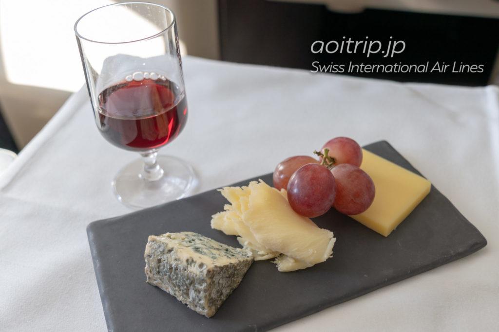 スイス航空LX161便ビジネスクラスのチーズ