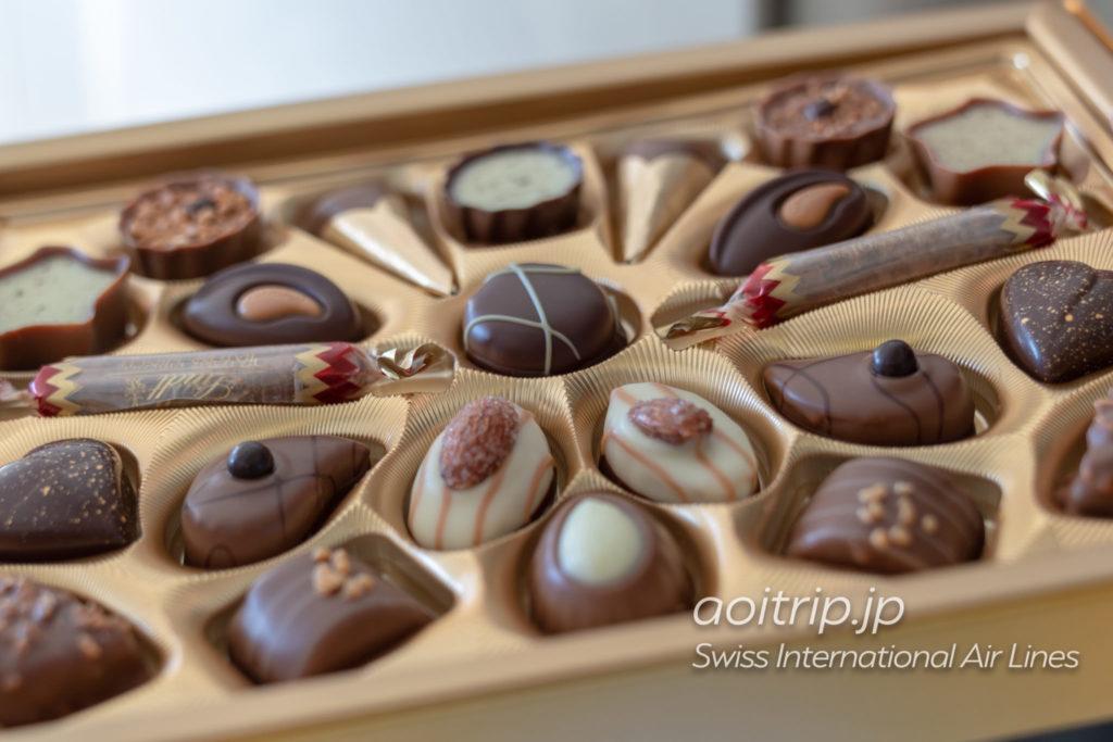 スイス航空LX161便ビジネスクラスのチョコレート