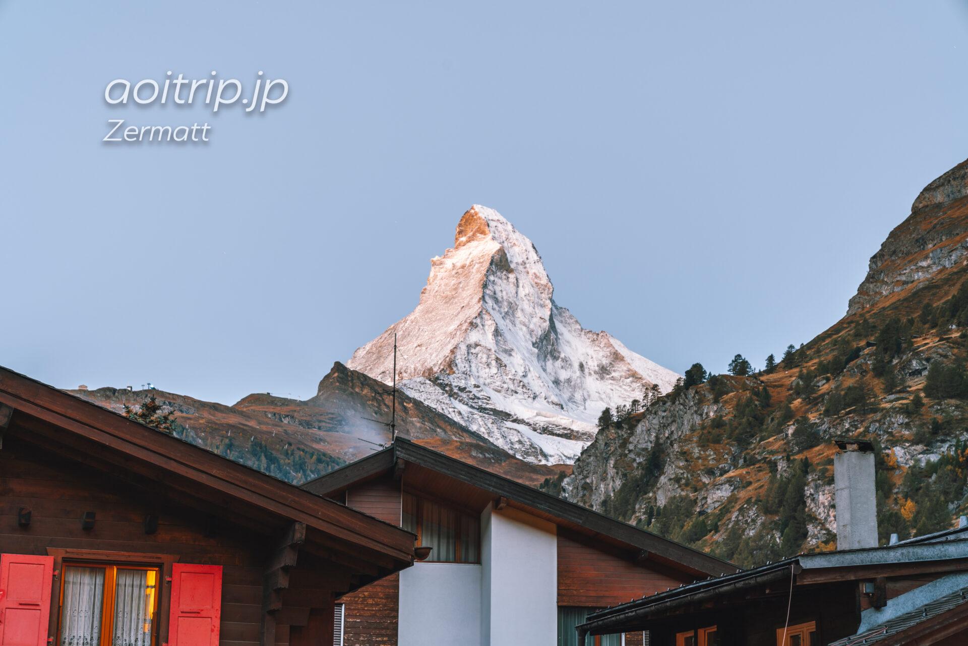 ホテル ブリストル スイス ツェルマットのマッターホルンビュー
