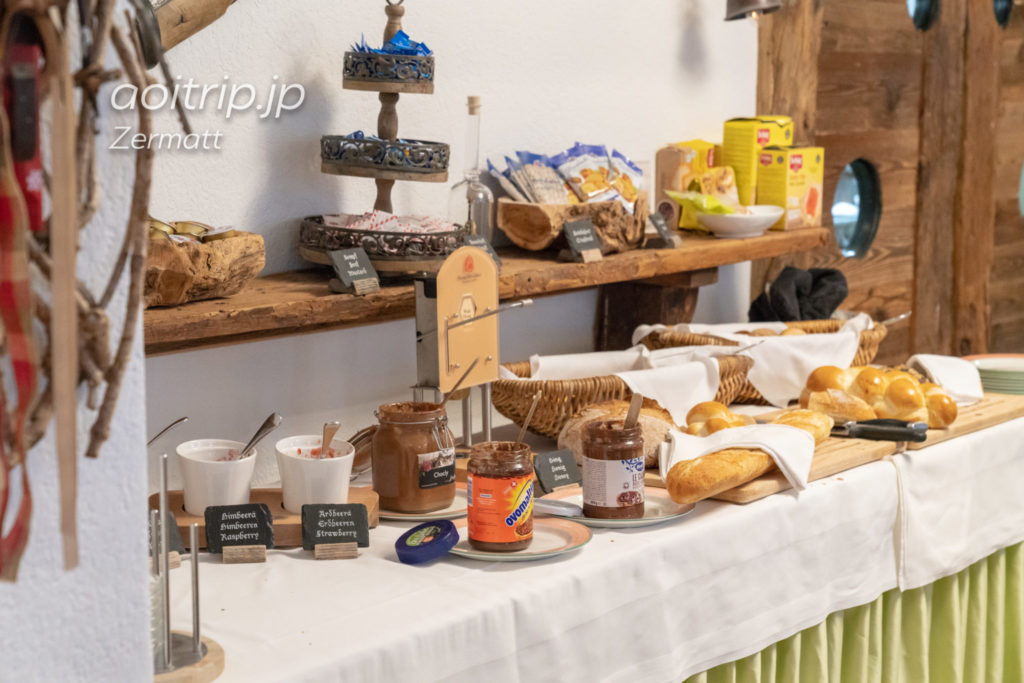 ホテル ブリストル スイス ツェルマットの朝食