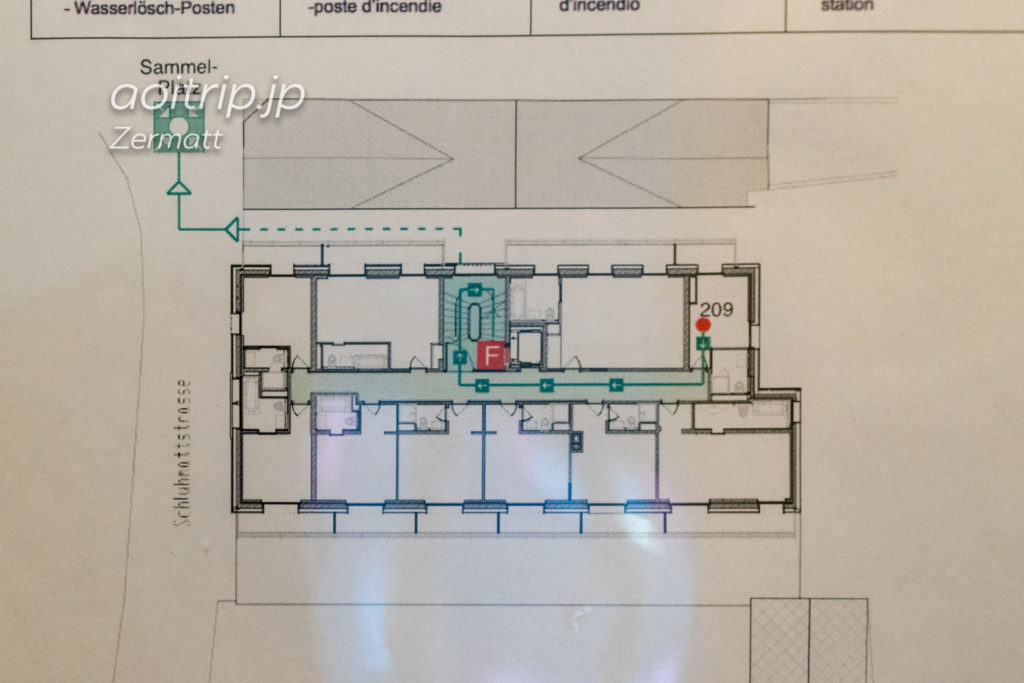 ホテル ブリストル スイス ツェルマットのフロアマップ
