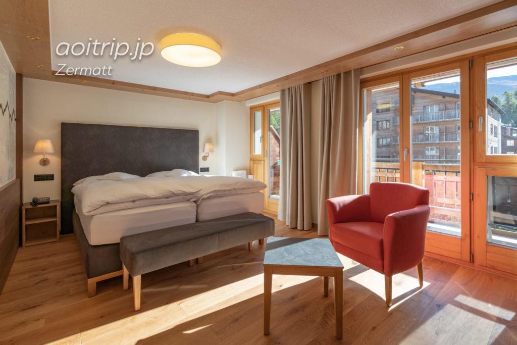 ホテル クロンヌ スペリオール ツェルマットの客室