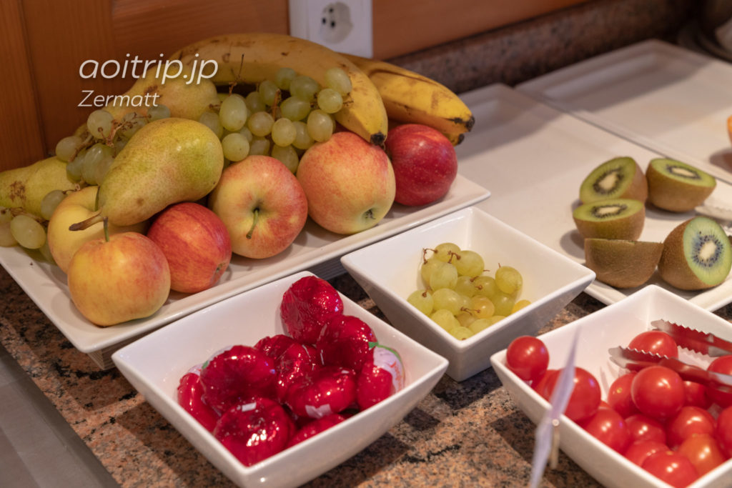 ホテル クロンヌ スペリオール ツェルマットの朝食