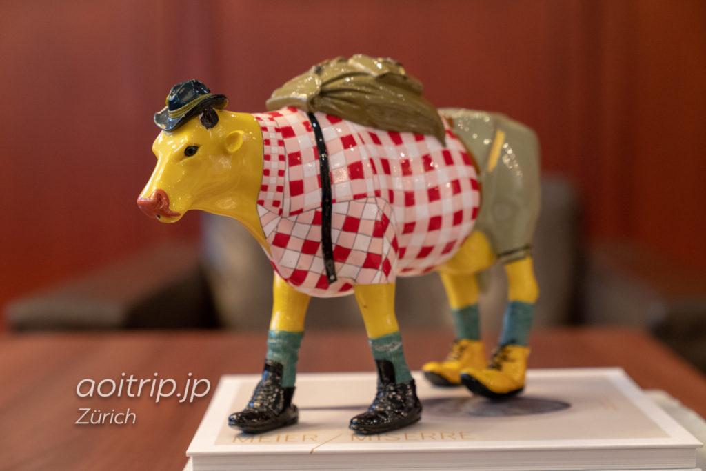 チューリッヒマリオットホテルの牛の置き物