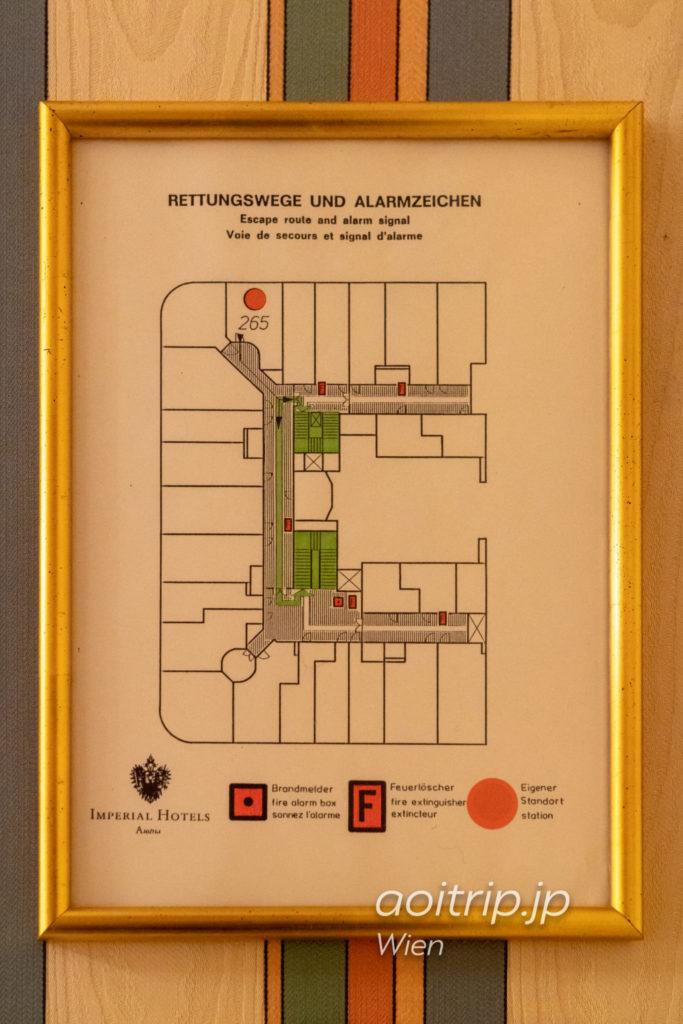 ホテルブリストルの平面図