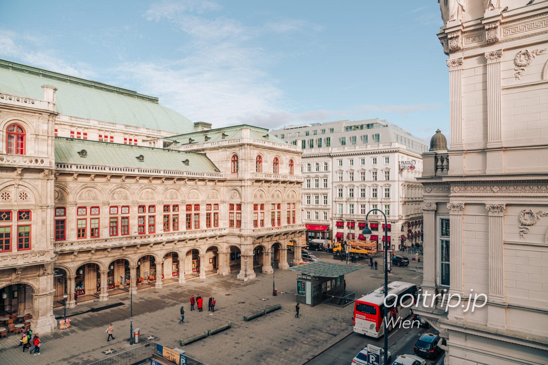 ザブリストルウィーン オペラスイートから望むウィーン国立歌劇場