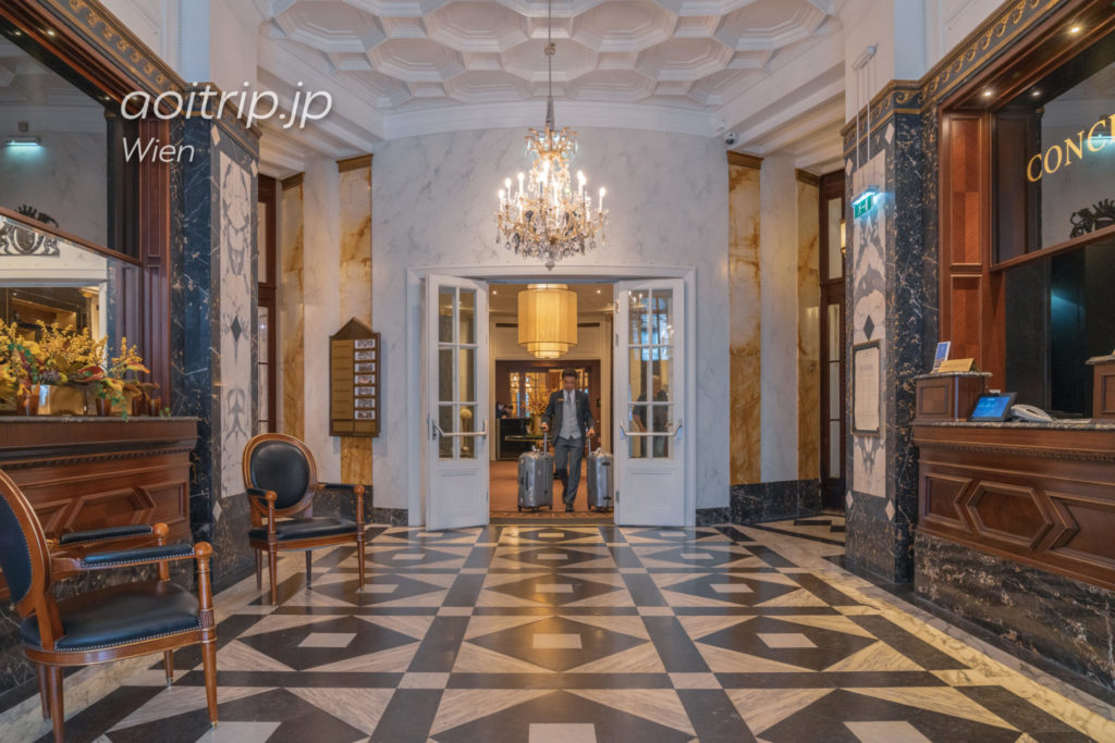ホテル ブリストル ウィーンのロビー