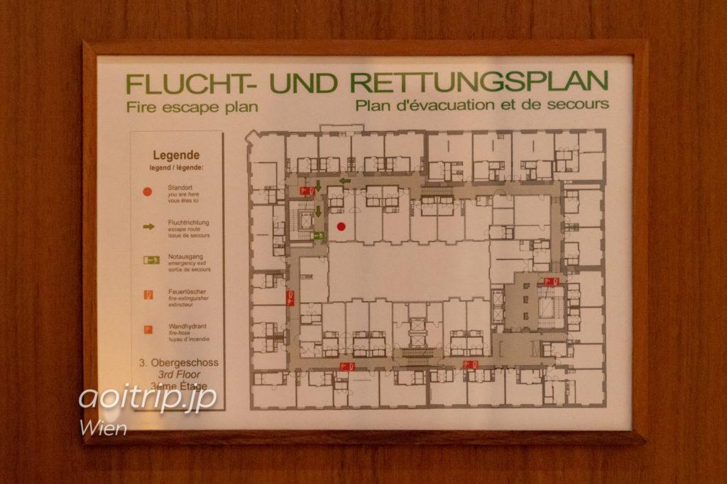 ザ リッツカールトン ウィーンのフロアマップ