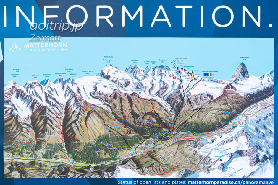 ツェルマットのマップ