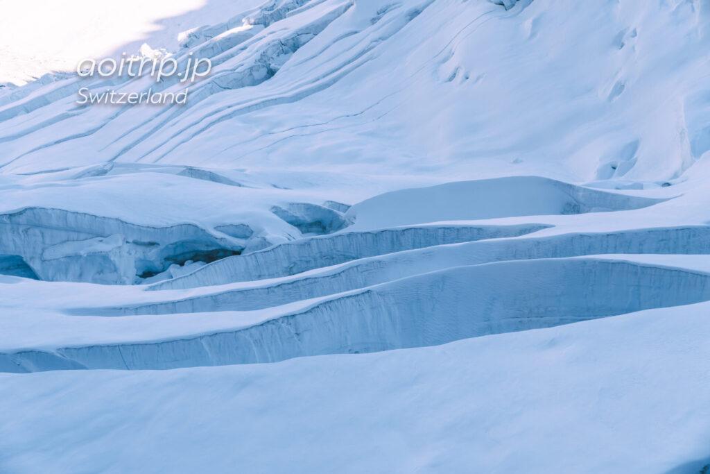 ユングフラウ鉄道 アイスメーア駅の氷河