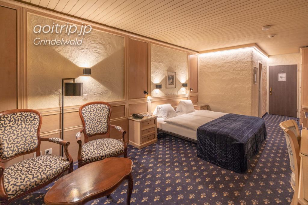 ホテル クロイツ & ポスト グリンデルヴァルトのダブルルーム