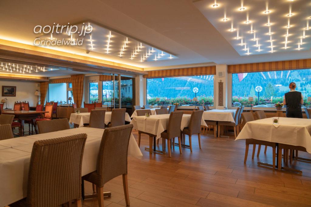 ホテル クロイツ & ポスト グリンデルヴァルトのレストラン