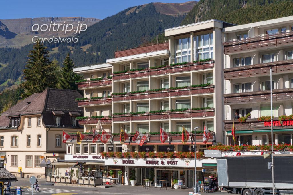 ホテル クロイツ & ポスト グリンデルヴァルトの外観