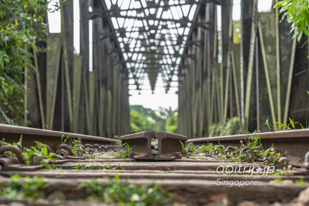 シンガポール マレー鉄道の廃線跡と陸橋