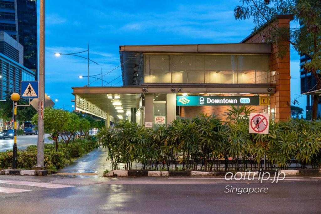 シンガポールMRTのダウンタウン駅