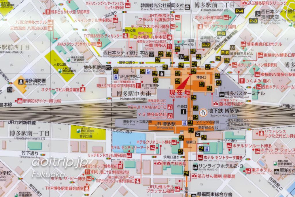 JR博多駅周辺のマップ