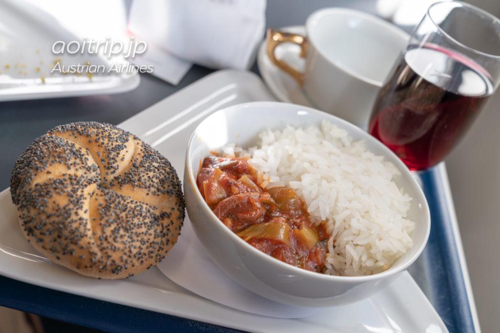 オーストリア航空OS570便ビジネスクラス 機内食