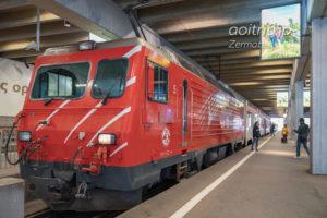 MGB(Matterhorn Gotthard Bahn)の列車