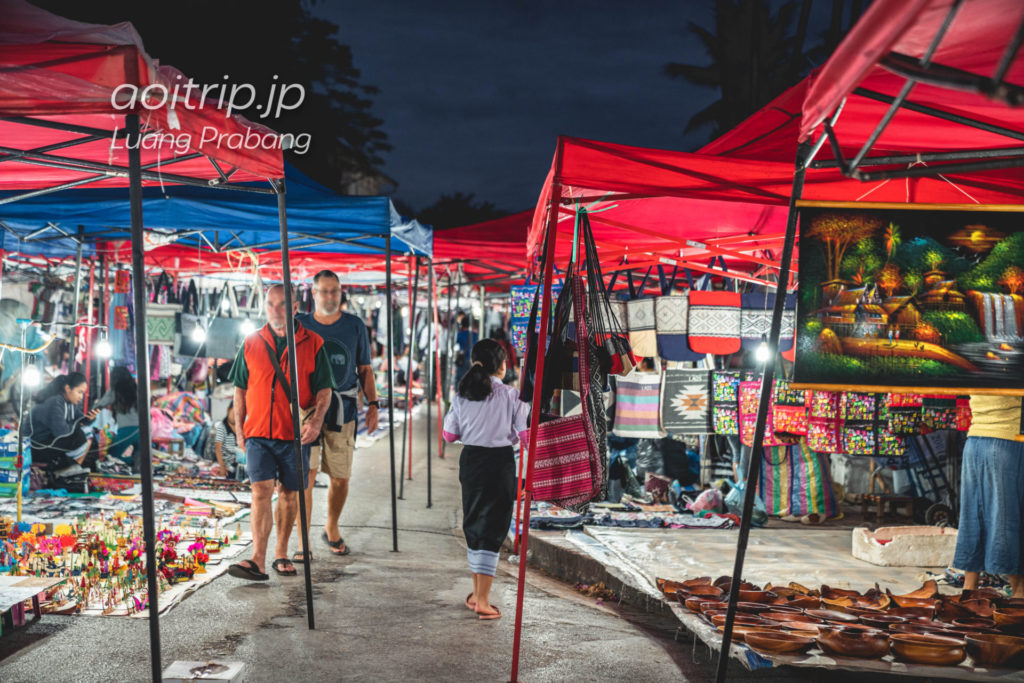 ルアンパバーンのナイトマーケット