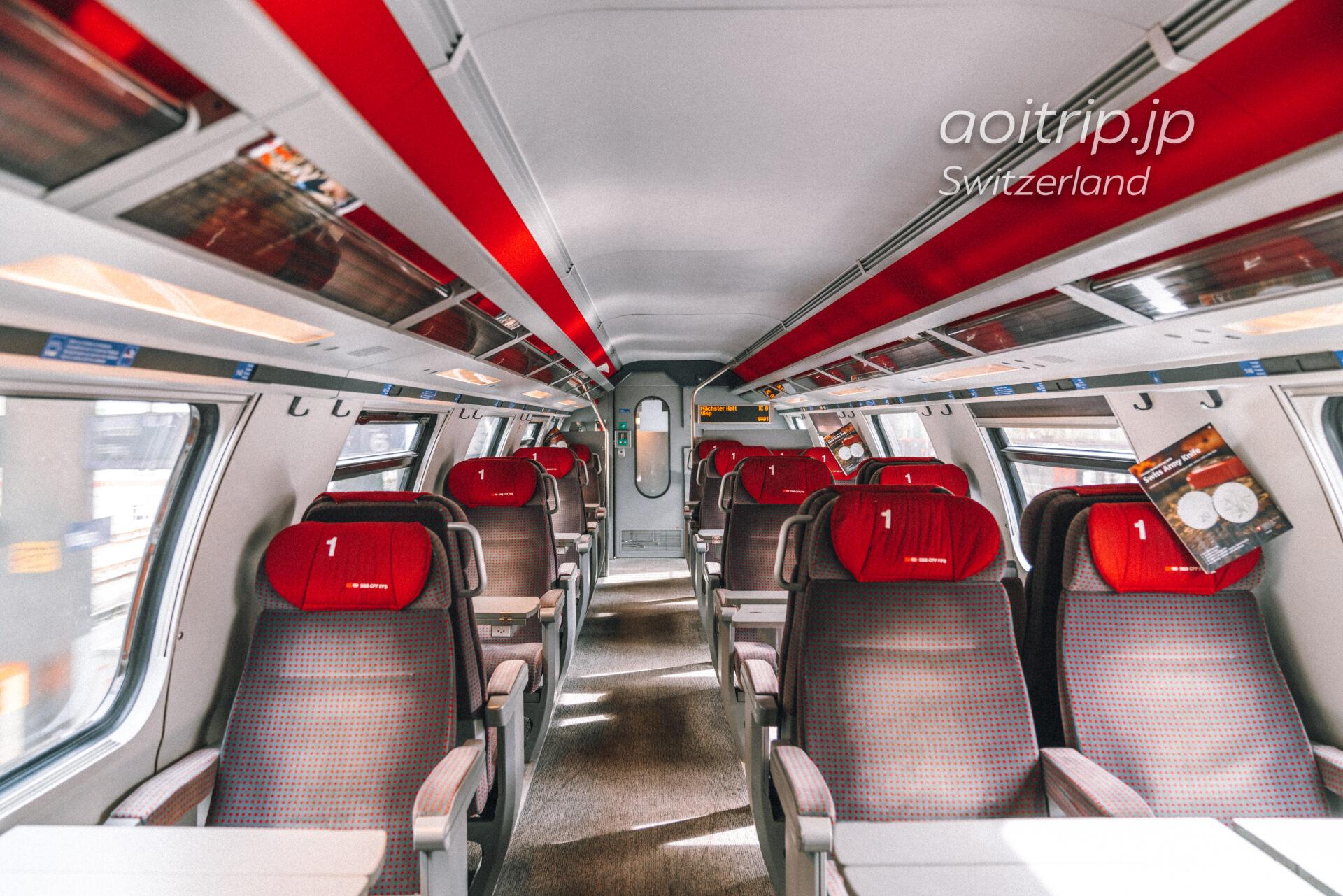 スイス鉄道の車内
