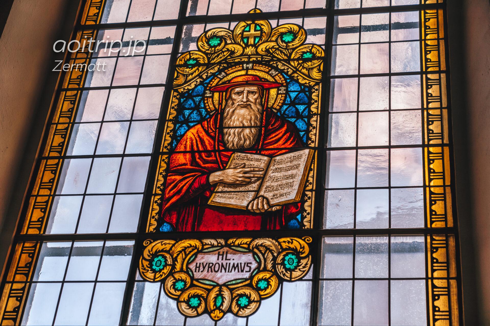 ツェルマットの教会のステンドグラス